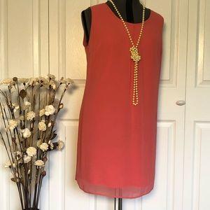 SALE! 2 for $25 Pink Midi Dress w/ Keyhole Back